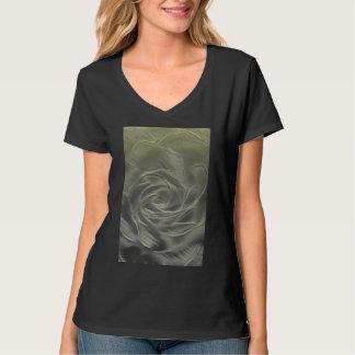Camiseta Abstrato do rosa amarelo
