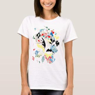 Camiseta Abstrato espanhol do verão
