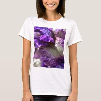 Camiseta Abstrato roxo, violeta e malva da íris