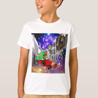 Camiseta Abundância bonita do carro dos presentes sob a