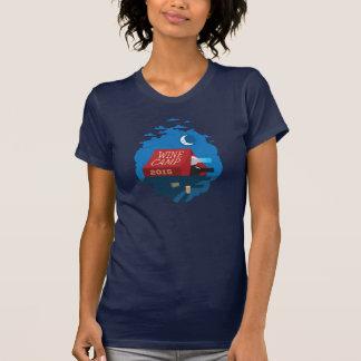 Camiseta Acampamento 2015 do vinho - nuvens de noite [azuis