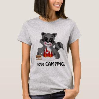 Camiseta Acampamento básico do amor do t-shirt das suas