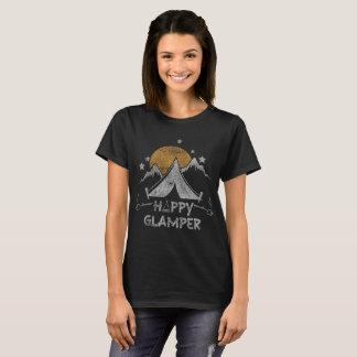Camiseta Acampamento bonito feliz de Glamper Glamping