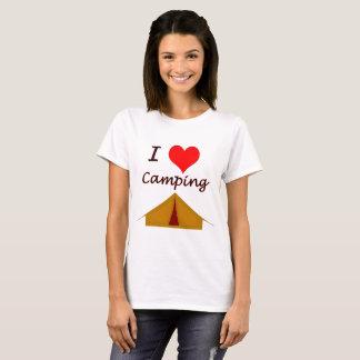 Camiseta Acampamento do amor do vetor