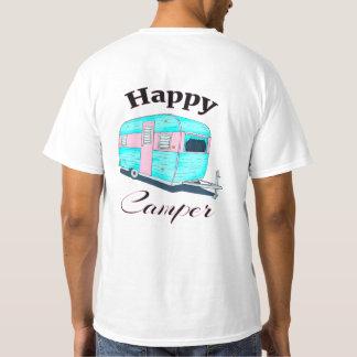Camiseta Acampamento do reboque de campista feliz