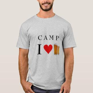 Camiseta acampamento mim cerveja do coração