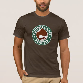 Camiseta Acampamento Seattle de Drupal - Brown escuro