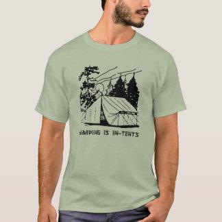 Camiseta Acampar é cena das intenções, enegrece