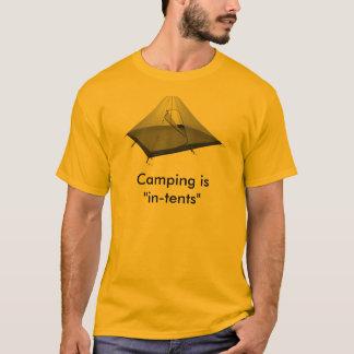 """Camiseta Acampar é """" intenções """""""