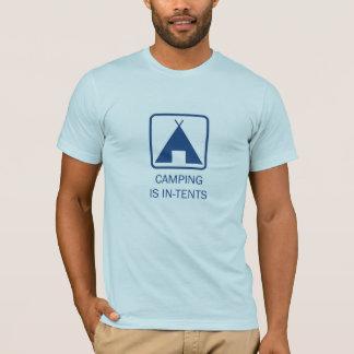 Camiseta Acampar é intenções, azuis