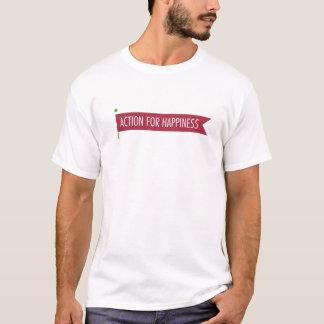 Camiseta Ação para o t-shirt do logotipo da felicidade