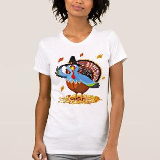 Camiseta Acção de graças bonito engraçada Turquia em um