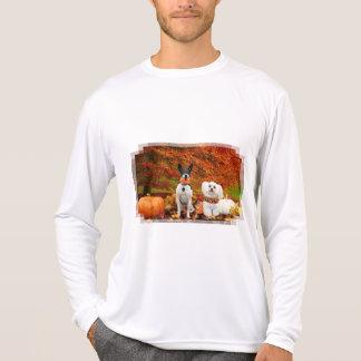 Camiseta Acção de graças da queda - Fox Terrier de Monty &