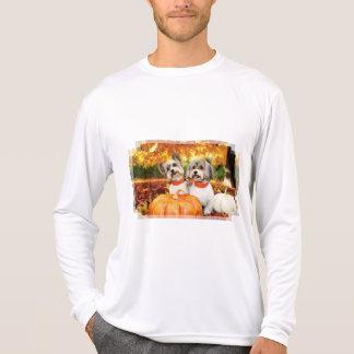 Camiseta Acção de graças da queda - máxima & Leo - Yorkies