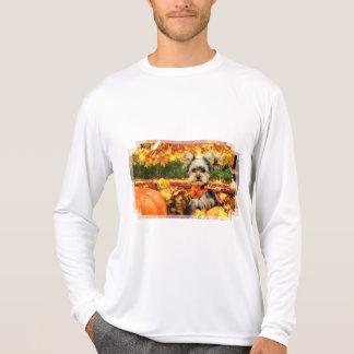 Camiseta Acção de graças da queda - máxima - Yorkie