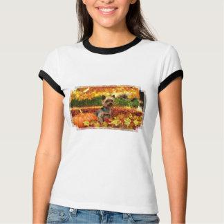 Camiseta Acção de graças da queda - Tucker - Yorkie