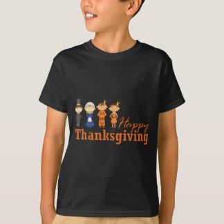 Camiseta Acção de graças feliz com nativo americano do