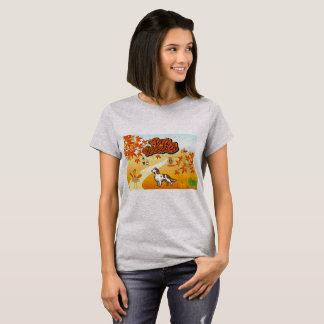 Camiseta Acção de graças feliz do setter vermelho e branco