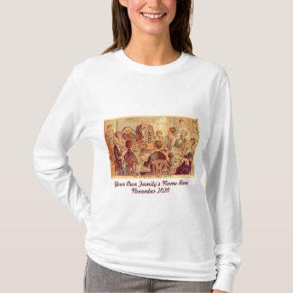 Camiseta Acção de graças personalizada da família do