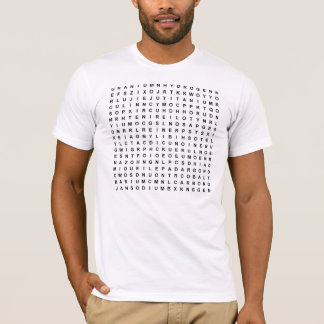 Camiseta Achado da palavra dos elementos