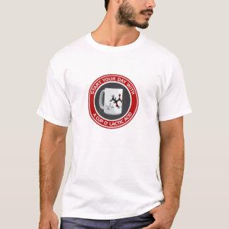 Camiseta Ácido láctico do o do copo (algodão T)