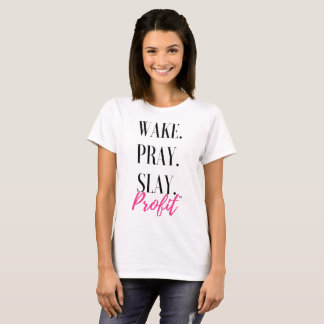 Camiseta Acordar. Pray. Massacre. Lucro