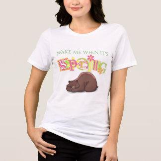 Camiseta Acorde-me quando é urso Hibernating do primavera