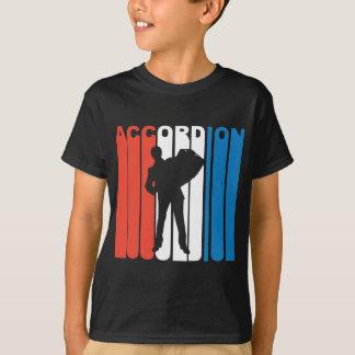 Camiseta Acordeão branco e azul vermelho