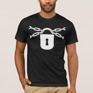Camiseta Acorrentado acima do t-shirt (preto)