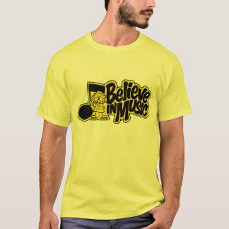 Camiseta Acredite em registros e em fitas da música