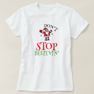 Camiseta Acredite no t-shirt do papai noel