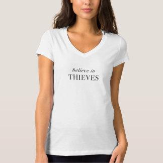 Camiseta Acredite nos ladrões