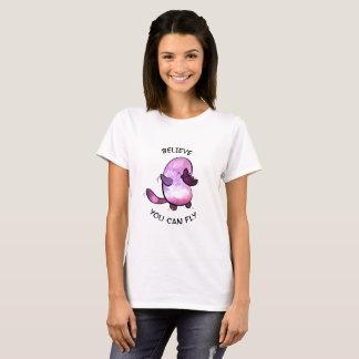 Camiseta Acredite o T das mulheres básicas brancas