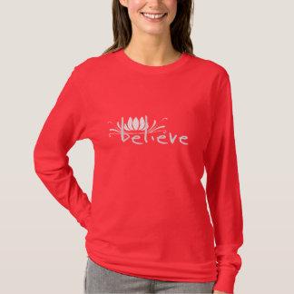 Camiseta Acredite o t-shirt das mulheres