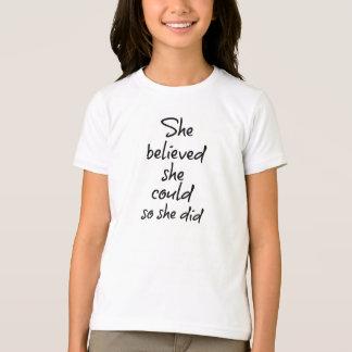 Camiseta Acreditou que poderia assim que citou