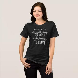 Camiseta Acreditou que poderia mudar o professor do mundo