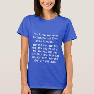 Camiseta Acrônimos engraçados do pai do autismo