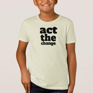 Camiseta Actua a mudança, muda - pia batismal & colore