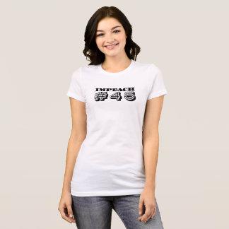 """Camiseta """"Acuse #45"""" (o impressão corajoso)"""