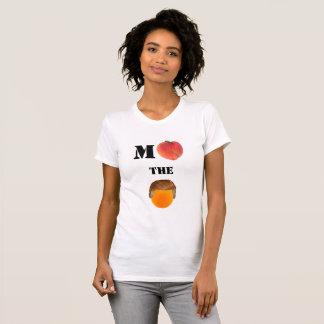 Camiseta Acuse o t-shirt alaranjado do pescoço de grupo
