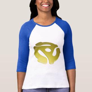 Camiseta Adaptador amarelo de 3D 45 RPM