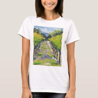 Camiseta Adega de Califórnia, videiras do vinhedo do verão