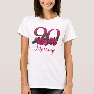 Camiseta Adicione o costume conhecido do número do