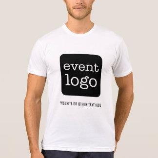 Camiseta Adicione o logotipo do negócio ou do evento com