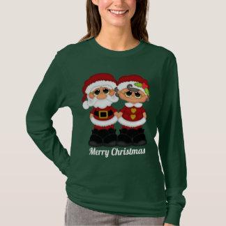Camiseta adicione o t-shirt do Sr. e da Sra. Claus da