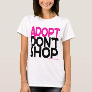Camiseta Adopt não compra! Esforços de salvamentos do