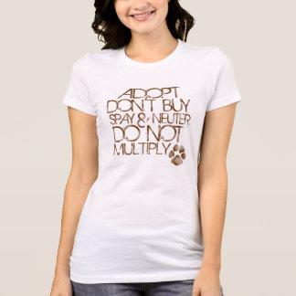 Camiseta Adopt não compra o T magro do ajustado