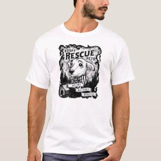 Camiseta Adote animais de estimação do salvamento