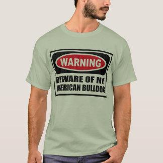 Camiseta Advertir BEWARE do T-Shir dos MEUS homens