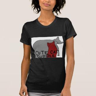 Camiseta Afago bonito do gato